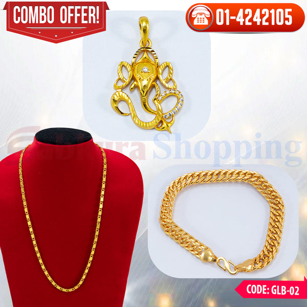 Ganesh Locket and Bracelet Combo 2 ☎ : 01-4242105 📞 9813782632