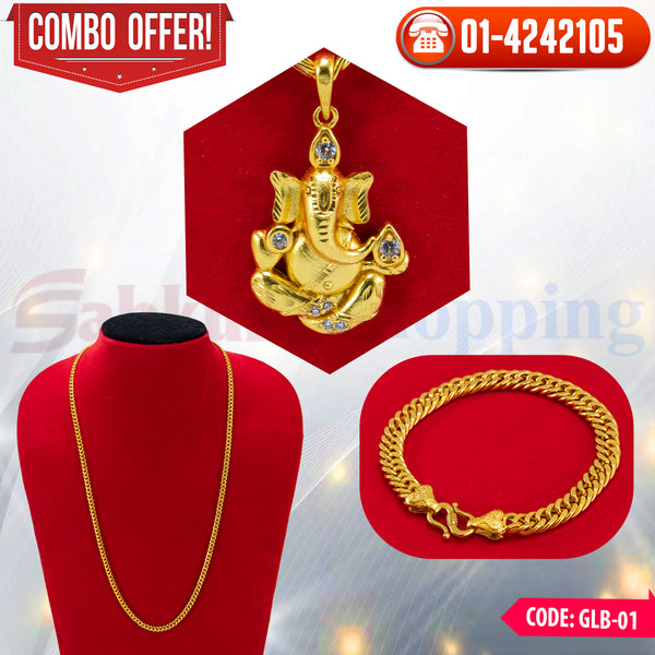 Ganesh Locket and Bracelet Combo 1 ☎ : 01-4242105 📞 9813782632
