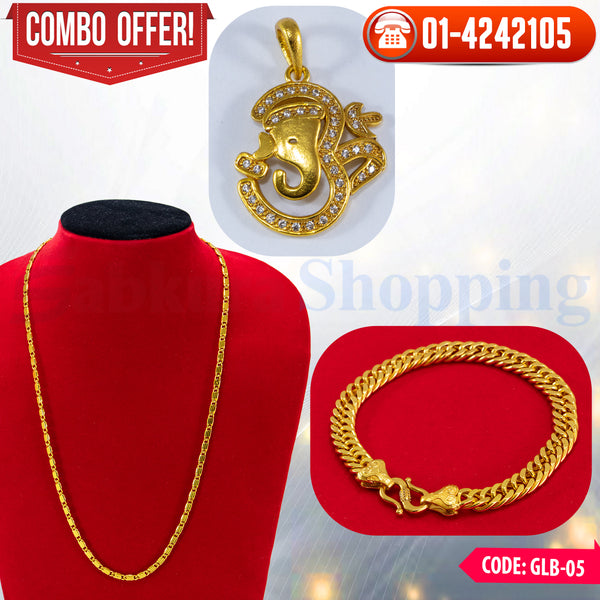 Ganesh Locket and Bracelet Combo 5 ☎ : 01-4242105 📞 9813782632