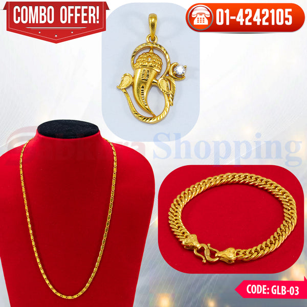 Ganesh Locket and Bracelet Combo 3 ☎ : 01-4242105 📞 9813782632
