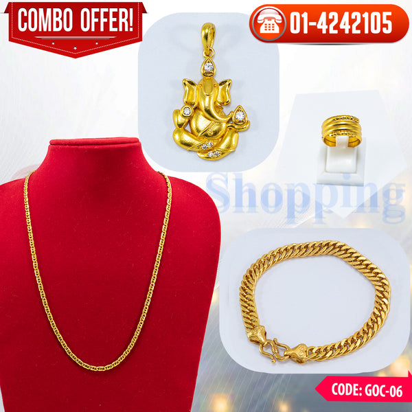 Ganesh Locket, Chain and Bracelet Combo 6 ☎ 01-4242105, 📞 9813782632
