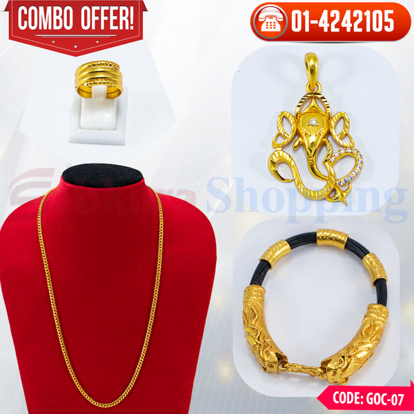 Ganesh Locket, Chain and Bracelet Combo 7 ☎ 01-4242105, 📞 9813782632