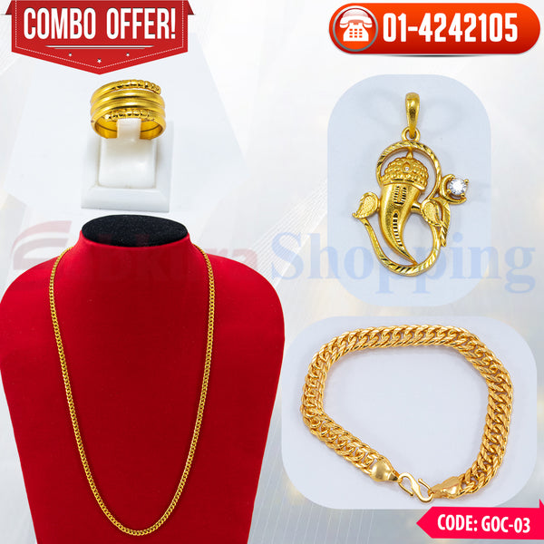 Ganesh Locket, Ring and Bracelet Combo 3 ☎ 01-4242105, 📞 9813782632