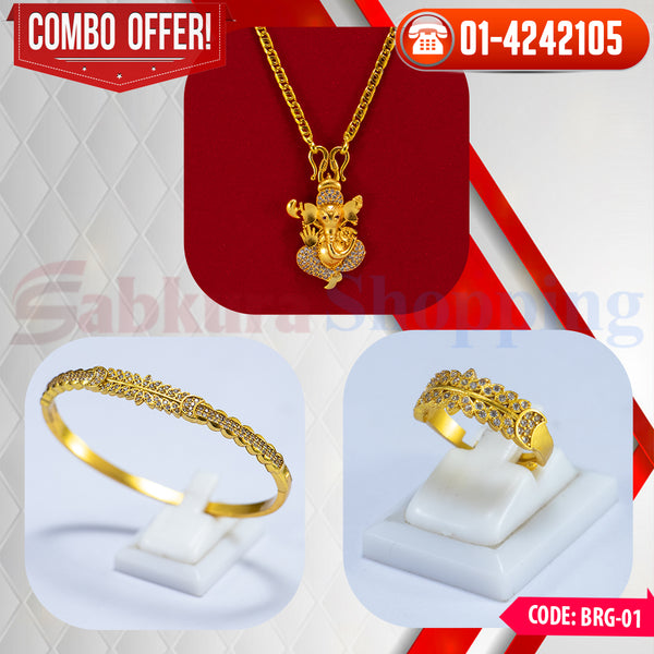Women Bracelet, Ring and Ganesh Locket  COMBO ☎ : 01-4242105 📞 9813782632