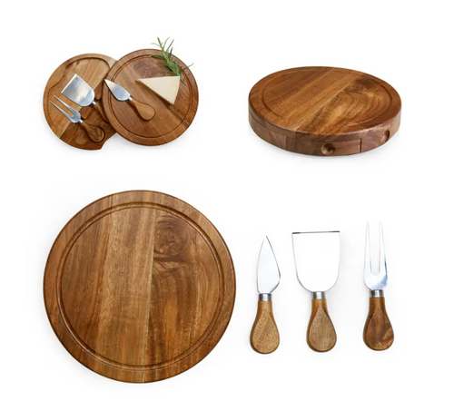 Acacia Brie Cheeseboard & Tools Set