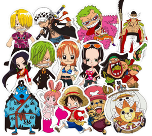 50 One Piece Sticker Bundle