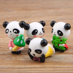 4Pcs/Set Mini Panda 3.5cm Kawaii Panda mini figure