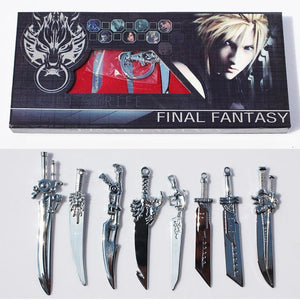 Final Fantasy Sword Keychain Set