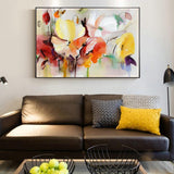 Abstract Watercolor Flower Oil Painting Print On Canvas Modern Wall Art