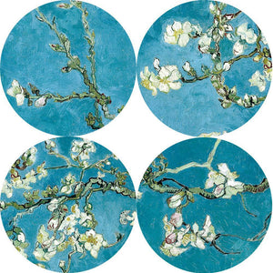 Almond Blossom Flowers Paintings Reproductions On The Wall By Van Gogh Impressionist Wall Art Canvas Pictures For Living Room