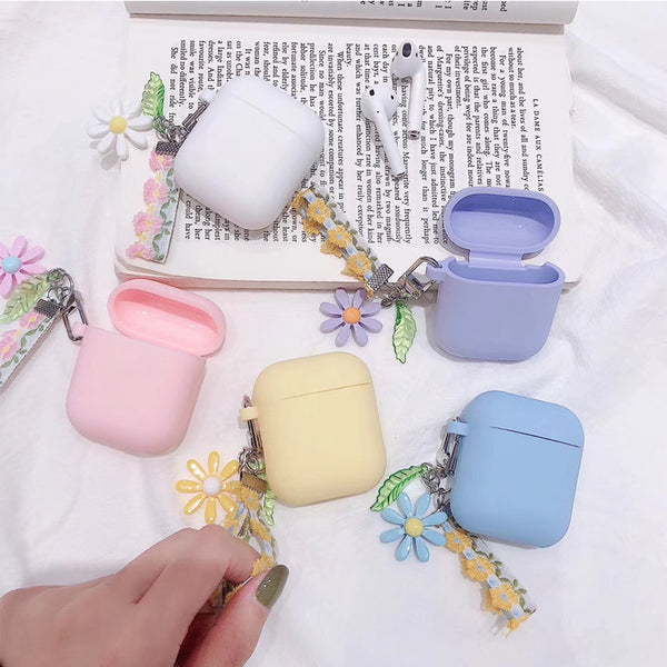 Luxury Cute Korean Flower Decoration Case for Apple Airpods Case