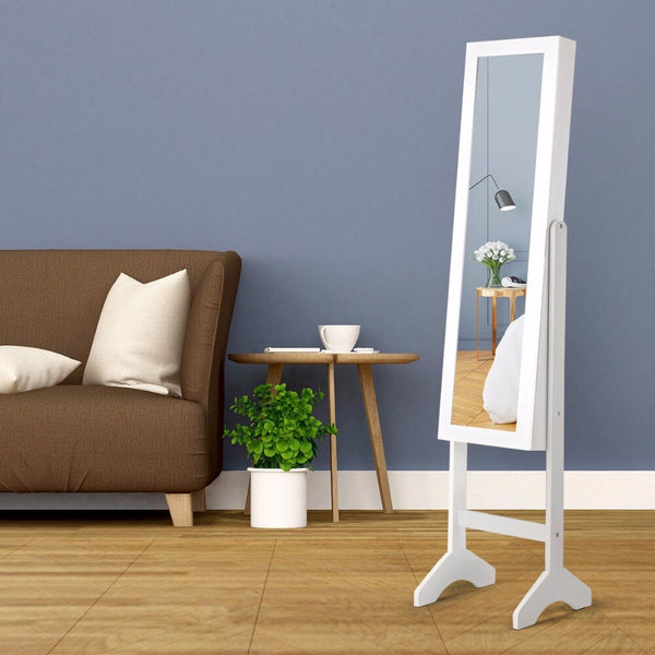 Sekai® PREMIUM Lockable Mirror Jewelry Organizer w/ Stand.