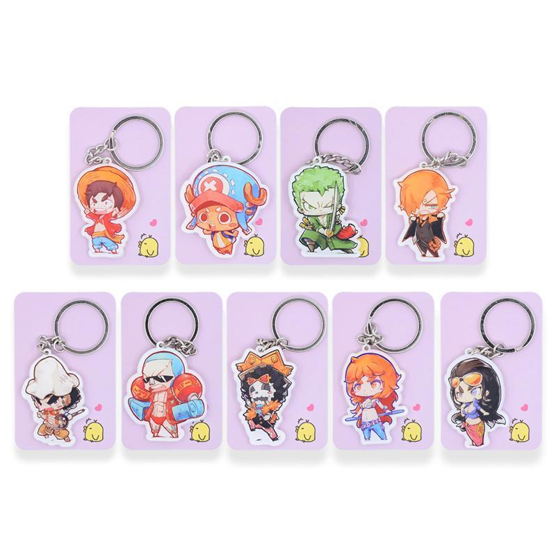 One Piece Keychain 9 Pack