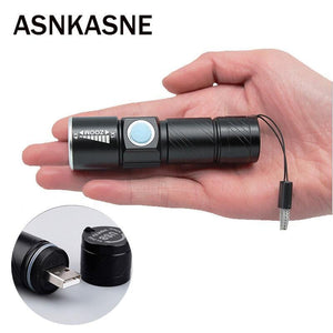 Portable USB Handy Powerful  LED Flashlight