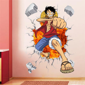 One piece Luffy life-size wall sticker