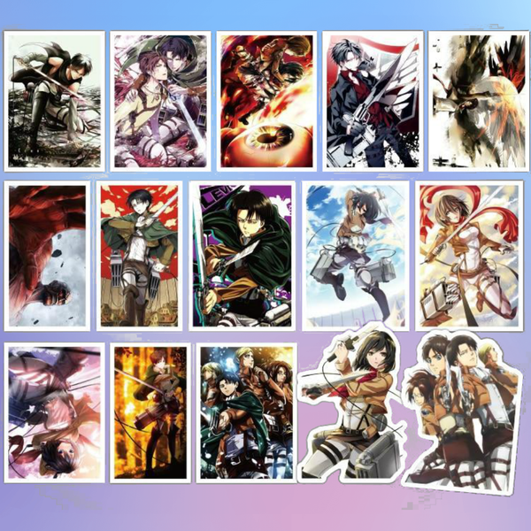 40 Attack on Titan Sticker Pack