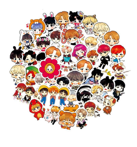 120 BTS Sticker Pack