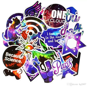 50 PCS Galaxy JDM Stickers