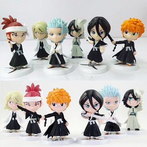 6 Pc Bleach Model Toy / Keychain Set