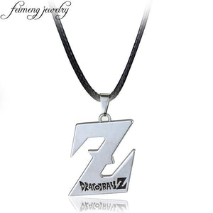 feimeng jewelry Anime Dragon Ball Necklace Charm Silvery DragonBall Z Logo Pendant Necklace For Men Fashion Cool Accessories