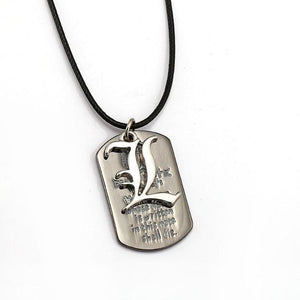 Death Note Dog Tag Necklace