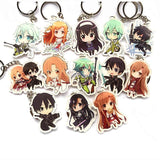 Acrylic 13 Pc SAO Keychain Set