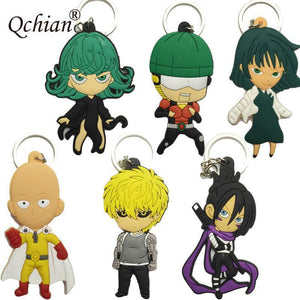 Rubber One Piece Man Keychains