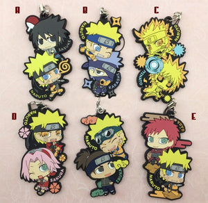 Rubber Naruto Duo Keychains