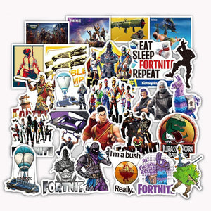 Exclusive 50 Piece Fortnite Sticker Set