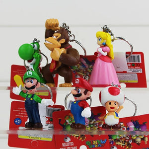 6 Piece Super Mario Key Figure Set