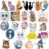50 Piece Cute Cat Sticker Pack