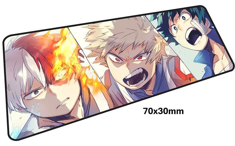 Exclusive 27x11 inch hero academia mousepads