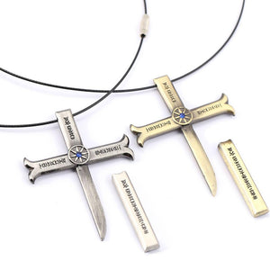 One Piece Dracule Mihawk Cross Necklace