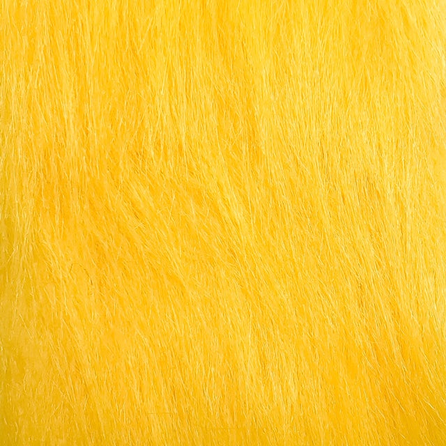 yellow craft fur