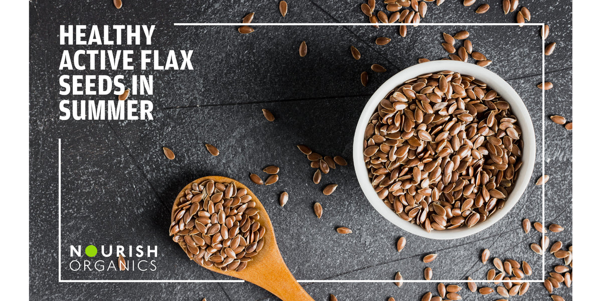 Healthy Active Flax Seeds in Summer