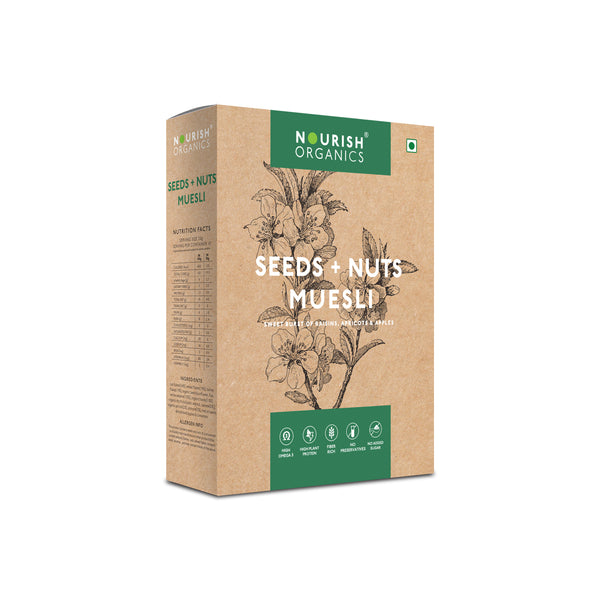 Seeds + Nuts Muesli Natural, Healthy Dried Fruits Mixture