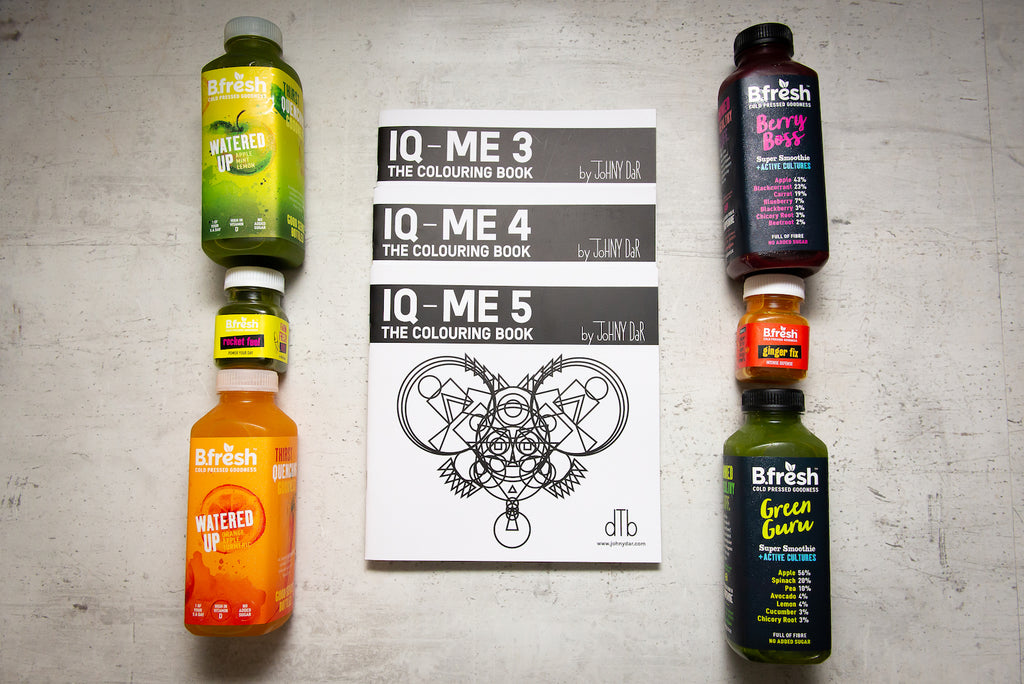 Super juice and colouring books - a natural way to holistic health in body and mind