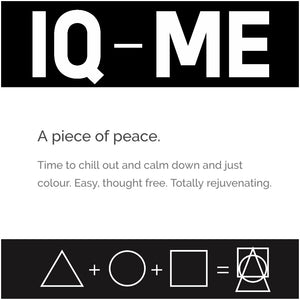 IQ-ME by Johny Dar is a piece of peace - time to chill out and calm down and just color. easy, through free and totally rejuvenating