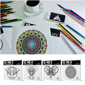 IQ-ME by artist and designer Johny Dar are coloring books for self-empowerment, wellbeing, flow and creativity