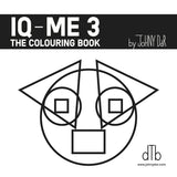 IQ-ME 3 by Johny Dar book cover - a coloring book with unique characters made from geometric forms only