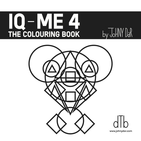 IQ-ME 4 by Johny Dar is a coloring book for adults and children