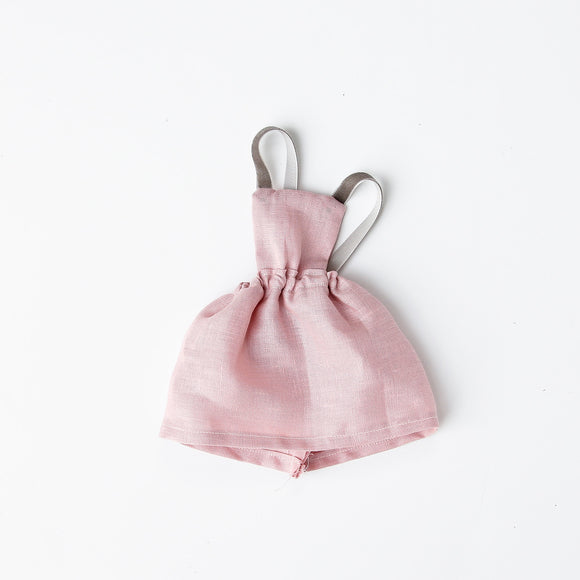 Blush Linen Pinafore Dress