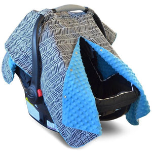Grey Herringbone Pattern  2 in 1 Car Seat cover