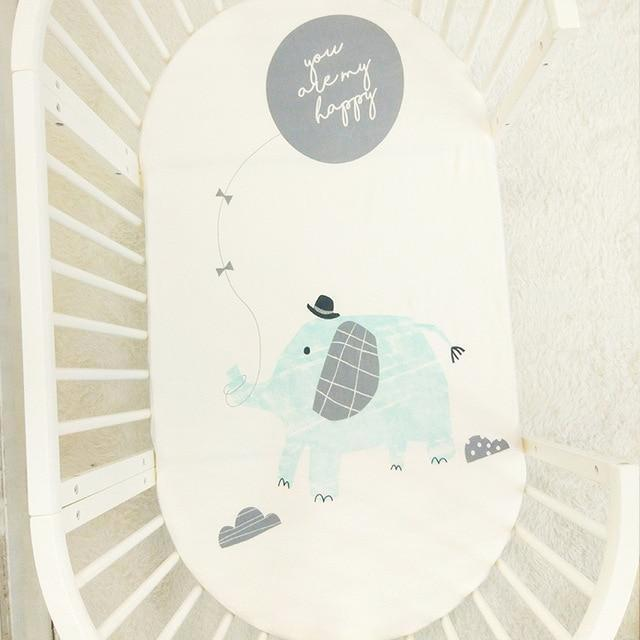 Cute Elephant Print Baby Crib Sheets