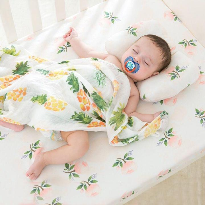 Baby Bed Deken.Pineapple Cotton Baby Muslin Swaddle Mababypro