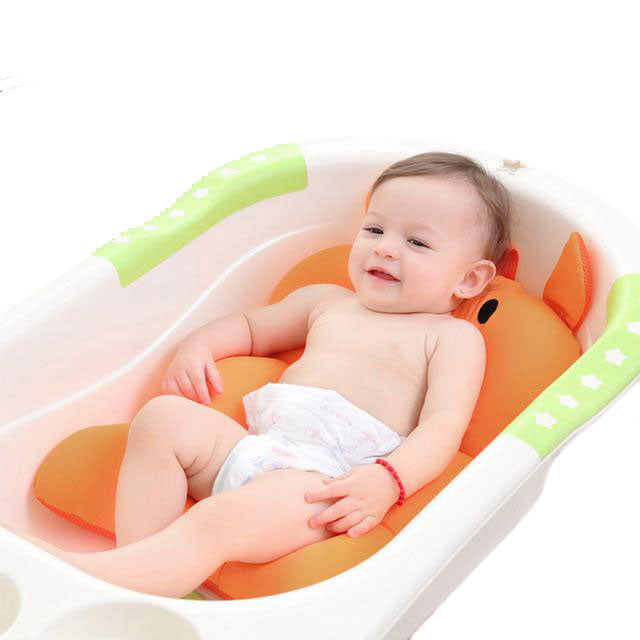 Securely and No-Slides Baby Foldable Bath Tub