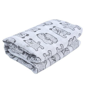 Bear Cotton Soft Baby Muslin Swaddle Blanket