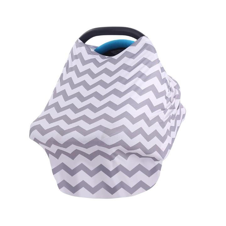 Grey Black Blue Car Seat Canopy Mababupro