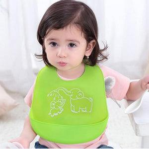 Adjustable Cartoon Prints Baby Bib