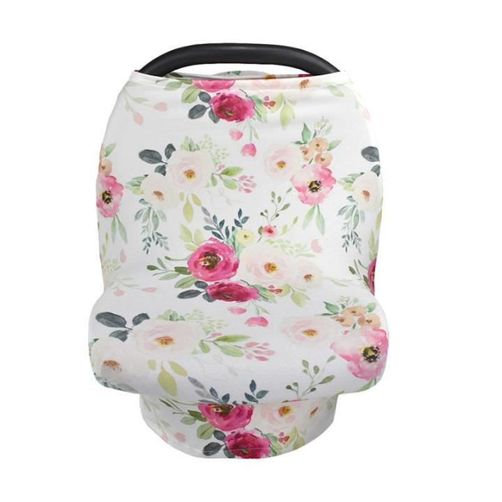 Flowering Baby Car Seat Cover